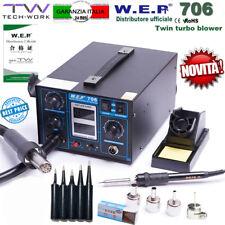 STAZIONE SALDANTE WEP 706 DISSALDANTE SMD PCB SALDATURA SOLDERING STILO LCD