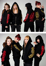 NEW Womens Fashion Korean Kpop Band 2NE1 Zipper Jacket CL Dara Park Bom Minzy