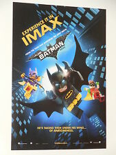 "LEGO BATMAN ""IMAX"" 9x13 INCH PROMO MOVIE POSTER"