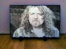 "Robert Plant de Led Zeppelin Arte Retrato pizarra 12x8"" rara Coleccionables Memorabilia"