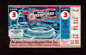 1967 WORLD SERIES GAME 3 TICKET STUB BOSTON RED SOX vs ST LOUIS CARDINALS