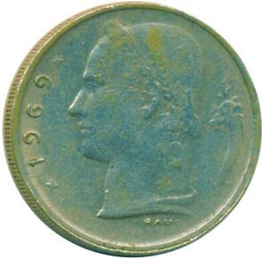 COIN / BELGIUM / 1 FRANC 1969  #WT13229