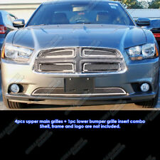 Custom Fits 2011-2012 Dodge Charger Stainless Steel Mesh Grill Combo