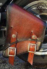 Harley Softail Fat Boy Satteltasche Schwinge Rahmentasche Handarbeit Starrahmen