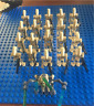 21 Pcs Minifigures -Star Wars Character Battle Droid Trooper Robot Gray Lego MOC