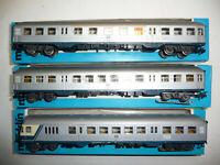 """Märklin H0 4158, 4159, 4160 drei Nahverkehrswagen """"Silberlinge"""" der DB OVP!"""