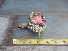 Beautiful Dried Flowers 3 Buttonholes Wedding Accessories Lavender Country Wild