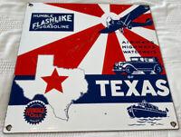 VINTAGE HUMBLE GASOLINE PORCELAIN SIGN, GAS STATION, PUMP PLATE, MOTOR OIL