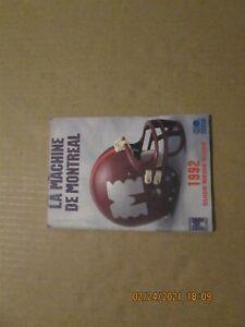 World League La Machine De Montreal Vintage Defunct 1992 Team Media Guide