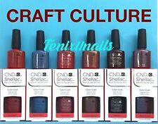 CND Shellac CRAFT CULTURE Fall 2016 Set~ Brick Denim Hand Leather Oxblood Patina