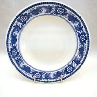 """Scammell's Trenton China BLUE ON WHITE FLORAL Soup Bowl(s) 9 1/8"""" x 1 1/2"""""""