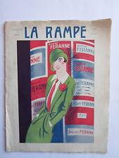 REVUE la RAMPE THEATRE CONCERT MUSIC HALL SPECTACLE Andrée FERANNE  n° 430 1926