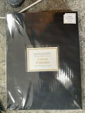 Belledorm double fitted black sheet