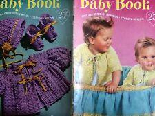 J.&P. Coats Clark Baby Pattern Book No 502 Knit Crochet in Wool Cotton 1952 SC