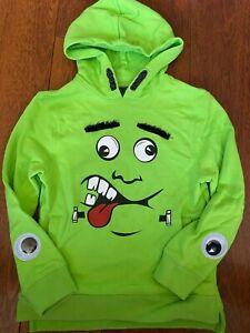 boys HALLOWEEN FRANKENSTEIN SWEATSHIRT shirt HOODIE monster CAT & JACK sz 6/7