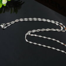 1PC Fashion Women's Stainless Steel Tile Chain Polishing Necklace 51cm
