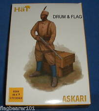 HAT SET 8268 - ASKARI - WW1 - 1:72 SCALE UNPAINTED PLASTIC FIGURES X 48