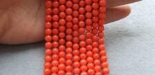 "6mm Round Orange Coral 15"" Beads"