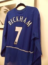 David Beckham 02/03 Manchester United match worn shirt COA
