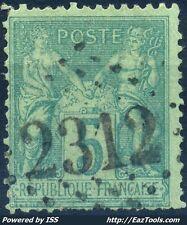 FRANCE TYPE SAGE N° 75 BELLE OBLITERATION JOUR DE L'AN GC 2312 A VOIR