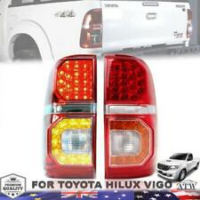 For 2011-2014 Toyota Hilux SR SR5 MK7 Rear Tail Lamp Light LED Red Clear