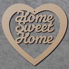 Home Sweet Home Heart Script Font - Christmas Wooden Craft Blanks