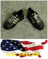 "❶❶1/6 shoes Adidas style black Gold color men sneaker for 12"" figure USA❶❶"