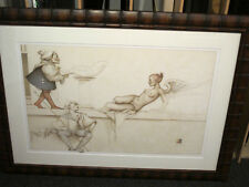 """MICHAEL PARKES """"The Sculptor"""" Stone Lithograph Framed Signed Numbered COA"""