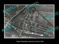 OLD LARGE HISTORIC PHOTO EDAM NETHERLANDS HOLLAND TOWN AERIAL VIEW c1940