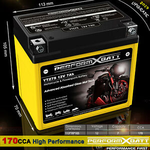 AGM Battery Honda CRF150F CRF230F CRF230L CRF250X CRF450X TRX90X TRX450ER  YTZ7S