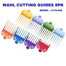 WAHL 8 Pack Hair Clipper Color Cutting Guides & Tray 3170-400 Free Organizer!!!