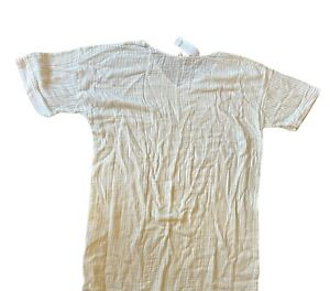 Eileen Fisher Ecru Organic Cotton Pin Striped 2X MSRP $188