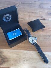 Genuine Leather Mercedes Benz Submarine Aviator Watch In Original Box+papers