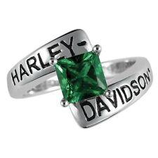 Harley-Davidson® May Birthstone Ring - Faux Emerald - size 9