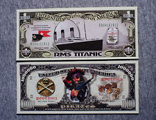 Set of 2 diff. fantasy paper money Titanic and pirates
