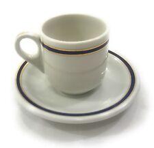 Union Pacific Railroad China Blue Gold 49er Demitasse Cup & Saucer Set Vintage