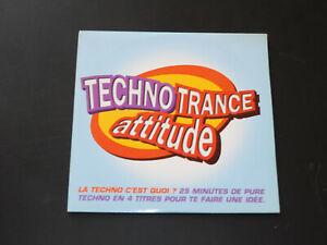 CD SINGLE - TECHNO TRANCE ATTITUDE - 1995 - PROMOTIONNEL