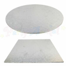 """Hardboard Cake Card Boards Strong base quality All sizes Silver Pattern 6"""" - 15"""""""