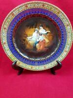 EPIAG Czecho-Slovakia 3 Maidens Porcelain Portrait Cabinet Plate Victorian Era