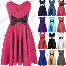 Polyester Mini Dresses for Women with Bows