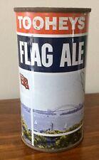Tooheys Flag Ale. 13-1/3FL.OZ Flat Top Steel. Beer Can.