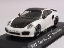 Porsche 911 Turbo S 2014 White/Black Porsche Promo 1:43 MINICHAMPS WAX20130026