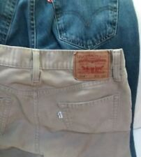 2 Levi 514 Jeans Blue Denim Red Label  and Tan Corduroy With White label 29x30