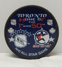 2000 Toronto Home Of The 1st and The 50th NHL All Star Hocky Puck 2Toronto Rare