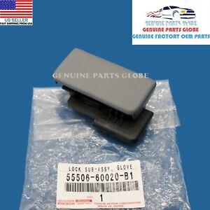 GENUINE OEM TOYOTA 05-15 TACOMA GRAY GLOVE COMPARTMENT DOOR LOCK 55506-60020-B1