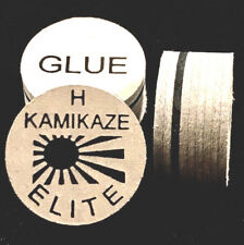 NEW....Kamikaze ELITE Layered Cue Tips  14 MM  (HARD) (5 Tips)  Fast Shipping.