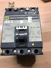 Square D Thermal Magnetic Circuit Breaker 30A, 3 Poles - Fa34030 - Used