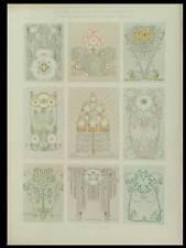 DECOR ART NOUVEAU, SOLC -1909- LITHOGRAPHIE, FLEURS