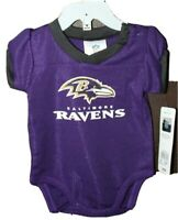 NFL Team apparel infant size 0-3 months Baltimore Ravens ruffle back bodysuit