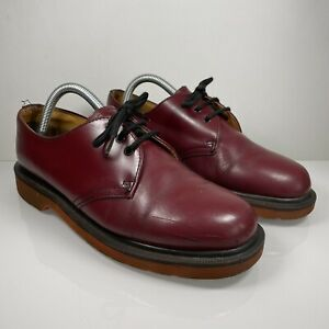 Dr Martens Made In England Vintage Oxblood Leather Shoes UK 7 EU 41 3 Eyelet